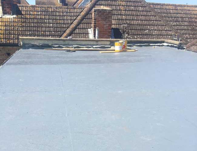 Flat roof repaired using the best materials
